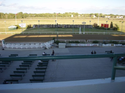 Assiniboine Downs view of the track from the bleachers.